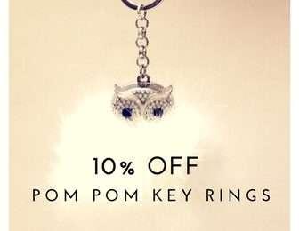 Key Rings  10% Off